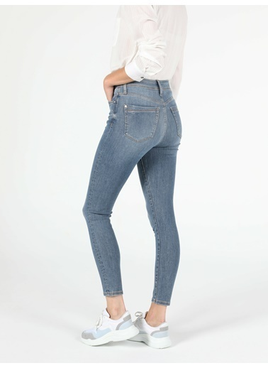 Colin's 760 Dıana Yüksek Bel Dar Paça Super Slim Fit Jean Kadın Jean Pantolon Lacivert